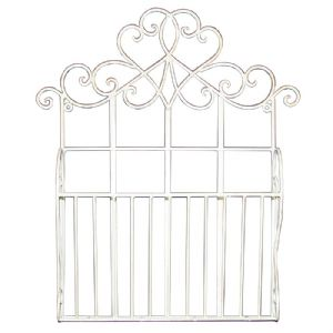 Metal Wall Hanging Letter Rack Cream